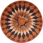 African Basket - Makalani Bowl - 14.5 Inches Across - #76751
