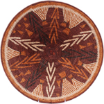 African Basket - Makalani Bowl - 14.75 Inches Across - #76752
