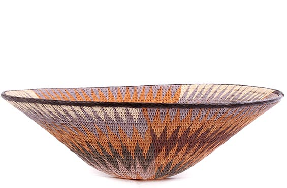 African Basket - Makalani Bowl - 14 Inches Across - #76753
