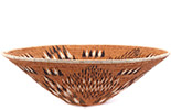 African Basket - Makalani Bowl - 14.75 Inches Across - #76756