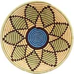 African Basket - Rwanda Sisal Coil Weave Bowl - 12 Inches Across - #42256