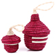 African Basket - Pair of Miniature Rwanda Peace Baskets - #75289
