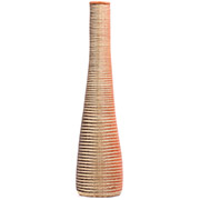 African Basket - Rwanda - Reed and Grass Vase Basket - 27 Inches Tall - #77728