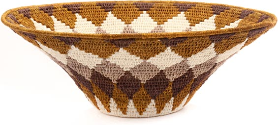 African Basket - Swaziland - Sisal Bowl -  9.5 Inches Across - #44389
