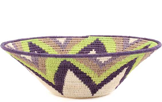 African Basket - Swaziland - Sisal Bowl -  9.5 Inches Across - #58959
