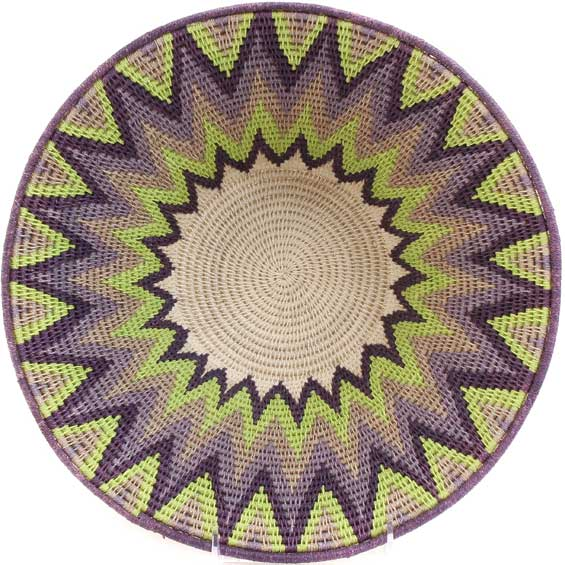 African Basket - Swaziland - Masterweave Bowl - 12 Inches Across - #61502