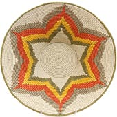 African Basket - Swaziland - Masterweave Bowl - 12 Inches Across - #65608