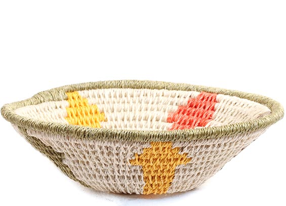 African Basket - Swaziland - Sisal Bowl -  5 Inches Across - #72659