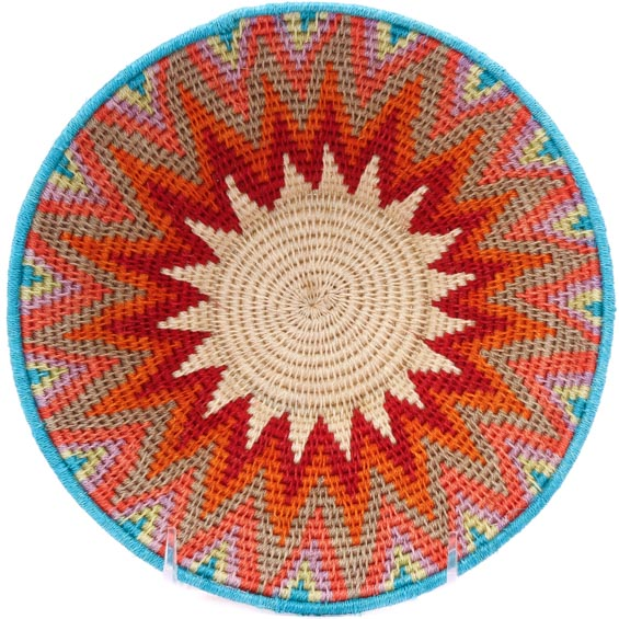 African Basket - Swaziland - Sisal Bowl -  8 Inches Across - #76075