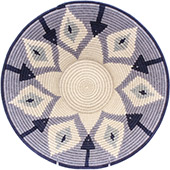 African Basket - Swaziland - Masterweave Bowl - 12.25 Inches Across - #77962