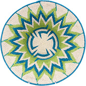 African Basket - Swaziland - Masterweave Bowl - 12 Inches Across - #77967