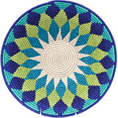 African Basket - Swaziland - Masterweave Bowl - 12.5 Inches Across - #77968