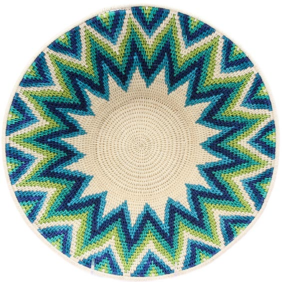 African Basket - Swaziland - Masterweave Bowl - 12.75 Inches Across - #77971