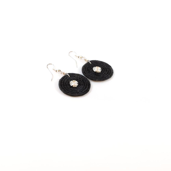 Large Disk Spiral Earrings<br>SJE02BL