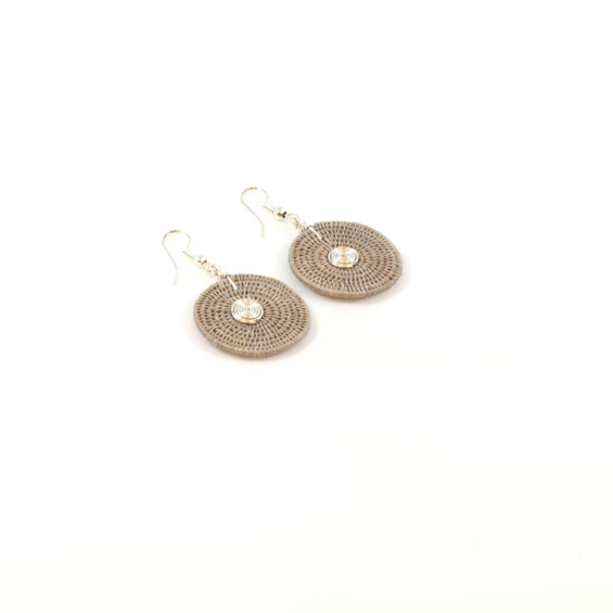 Large Disk Spiral Earrings<br>SJE02OY