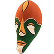 Traditional African Mask - Tikar Clay Passport Mask -  6 Inches Tall - #24619