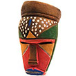 Traditional African Mask - Tikar Clay Passport Mask -  4.75 Inches Tall - #24628