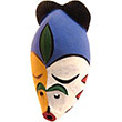 Traditional African Mask - Tikar Clay Passport Mask -  5 Inches Tall - #24634