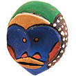Traditional African Mask - Tikar Clay Passport Mask -  3.75 Inches Tall - #24650