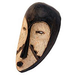 Traditional African Mask - Fang Two Tone Passport Mask - 13 Inches Tall - #33544