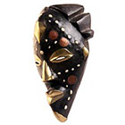 Traditional African Mask - Tikar Coin Mask - 11 Inches Tall - #33595