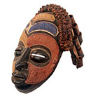 Traditional African Mask - Senufo Kpeliye'e Mask - 11.5 Inches Tall - #33629