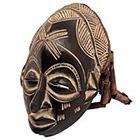 Traditional African Mask - Chokwe Mask - 12.5 Inches Tall - #33633