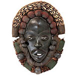 Traditional African Mask - Dan Ambassador Mask - 14 Inches Tall - #6228
