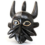 Traditional African Mask - Bamun Mask - 14 Inches Tall - #6391