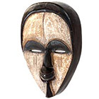 Traditional African Mask - Vuvi Spirit Mask - 12 Inches Tall - #6397