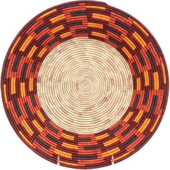 African Basket - Uganda - Rwenzori Bowl - 11.75 Inches Across - #71651