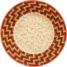 African Basket - Uganda - Rwenzori Bowl - 12.5 Inches Across - #71661