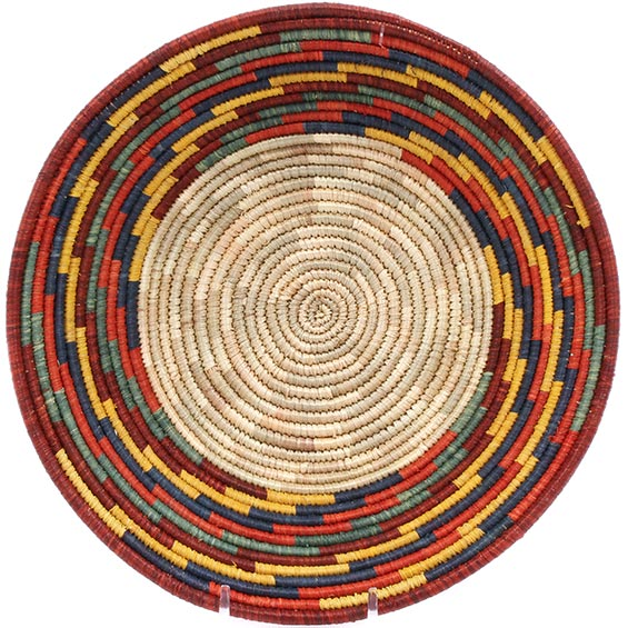 African Basket - Uganda - Rwenzori Bowl -  7.75 Inches Across - #74960