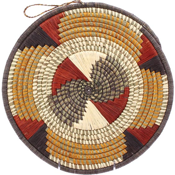 African Basket - Uganda - Virunga Roundel - 11.5 Inches Across - #79172