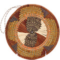 African Basket - Uganda - Virunga Roundel -  7.25 Inches Across - #79178