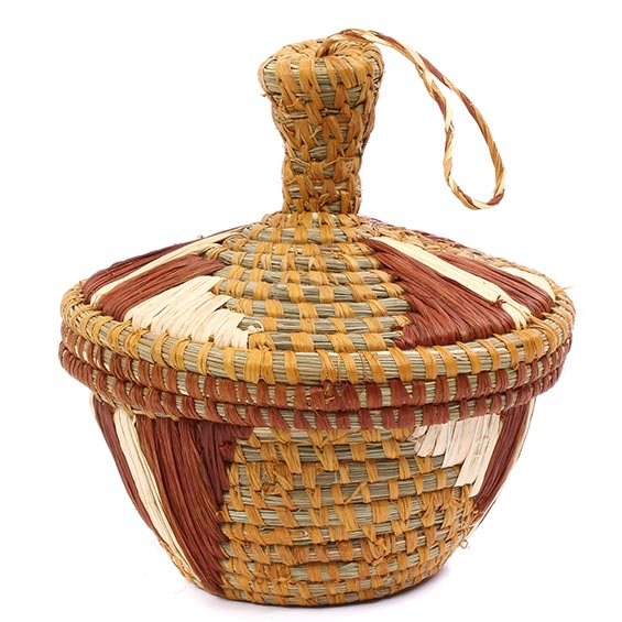 African Basket - Uganda - Petite Virunga Wishing Basket -  4 Inches Across - #79198