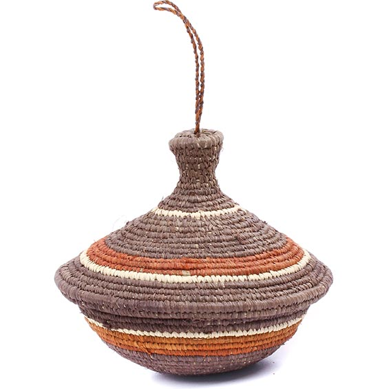 African Basket - Uganda - Petite Virunga Wishing Basket -  4 Inches Across - #79205
