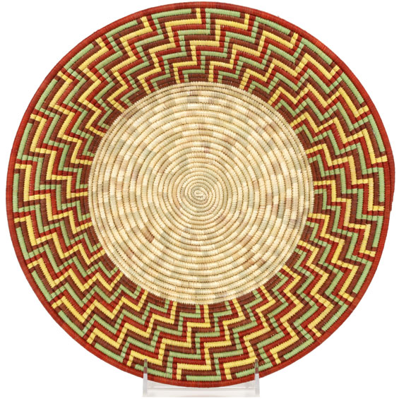 African Basket - Uganda - Rwenzori Bowl - 13 Inches Across - #90359