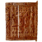 African Carving - Dogon Granary Door - 11 Inches Tall x 9.5 Inches Wide - #13443