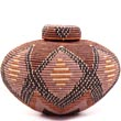 African Basket - Zulu Ilala Palm - Isichumo -  9 Inches Tall - #34968