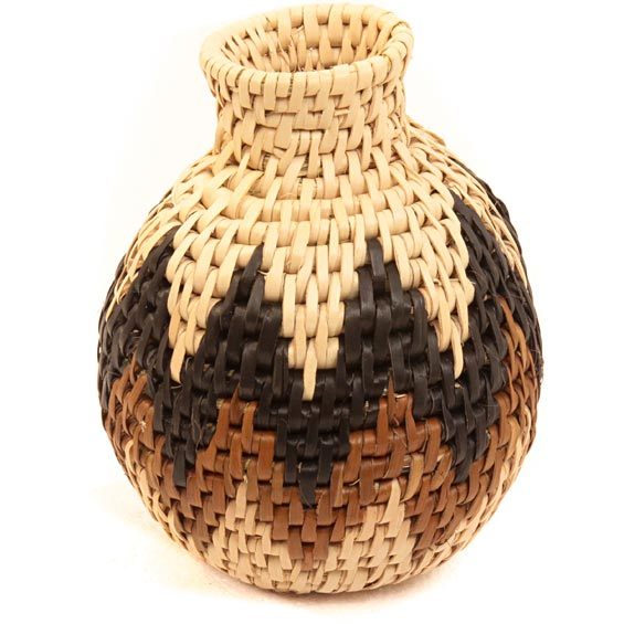 African Basket - Zulu Ilala Palm - Herb Vase -  4.5 Inches Tall - #40010