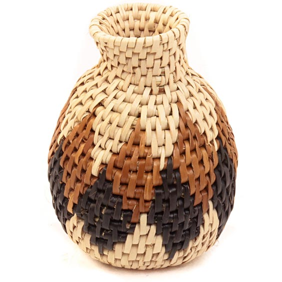 African Basket - Zulu Ilala Palm - Herb Vase -  4.5 Inches Tall - #40018