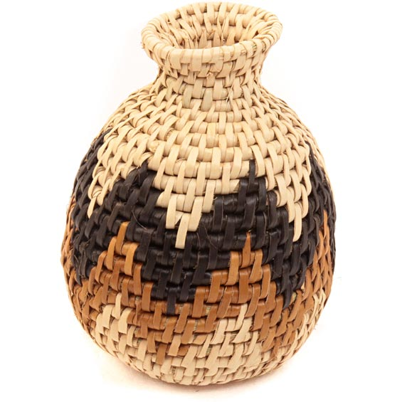 African Basket - Zulu Ilala Palm - Herb Vase -  4.5 Inches Tall - #40022