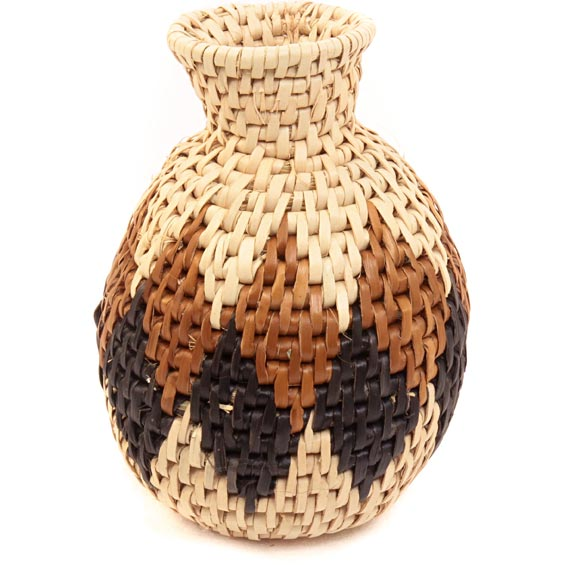 African Basket - Zulu Ilala Palm - Herb Vase -  4.5 Inches Tall - #40025
