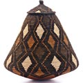 African Basket - Zulu Ilala Palm - Ukhamba - 14.5 Inches Tall - #40980