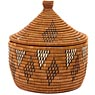 African Basket - Zulu Ilala Palm - Ukhamba Canister -  9.5 Inches Tall - #49718