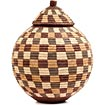 African Basket - Zulu Ilala Palm - Ukhamba - 11.5 Inches Tall - #51179