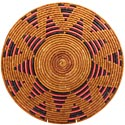 African Basket - Zulu Ilala Palm - Shallow Bowl - 15.75 Inches Across - #64410