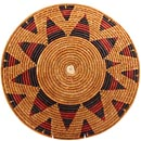 African Basket - Zulu Ilala Palm - Shallow Bowl - 16.25 Inches Across - #64412