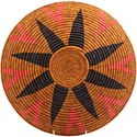 African Basket - Zulu Ilala Palm - Shallow Bowl - 15.75 Inches Across - #64427